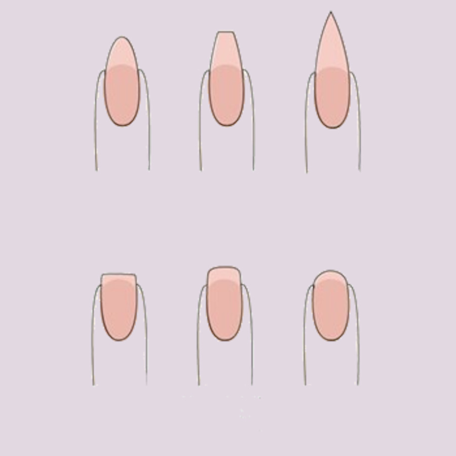 jak zrobic paznokcie hybrydowe w domu ksztalt
