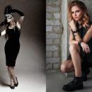 mala czarna modna kiecka