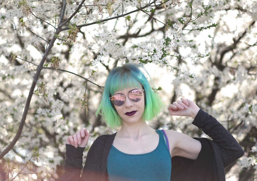 niebieskie i zielone wlosy