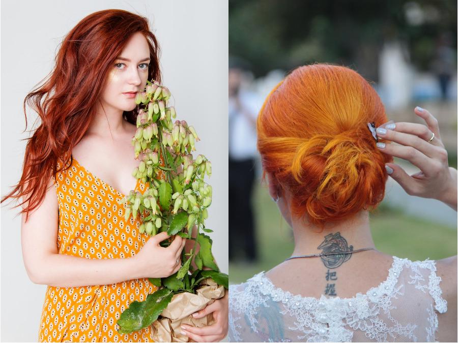 modne rude włosy