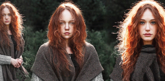 rude włosy kolory