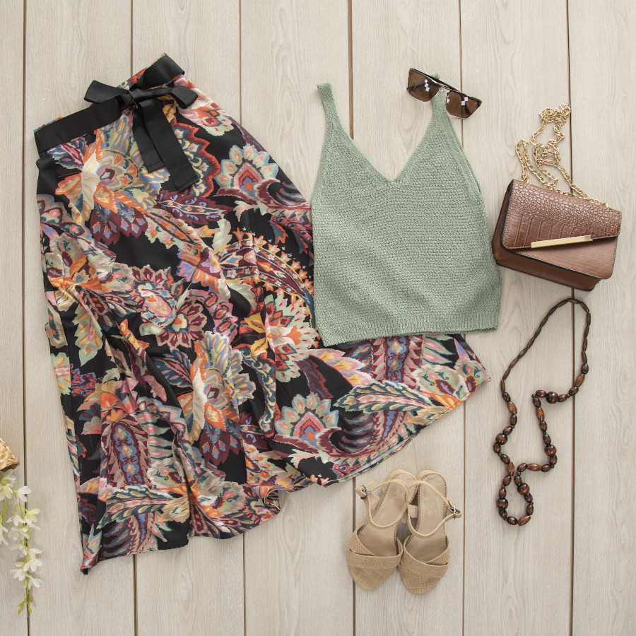 spódnica midi stylizacja