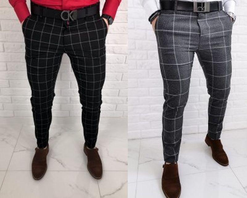 Męskie spodnie w kratę